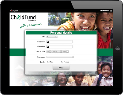 Child Fund International is face to face fundraising on Waysact.