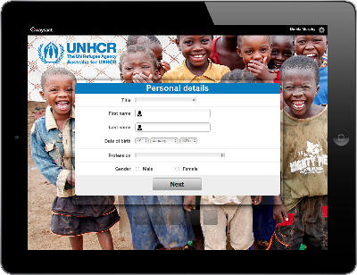 The UNHCR  is face to face fundraising on Waysact.