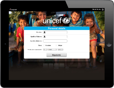Unicef  is face to face fundraising on Waysact.